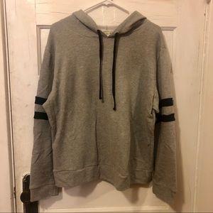 Bozzolo Sweaters - Grey Hoodie w/ Stripes